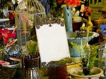 Sinal em branco da loja Imagens de Stock Royalty Free