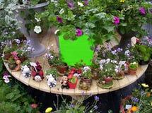 Sinal em branco das flores Imagem de Stock Royalty Free