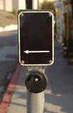 Sinal em branco do crosswalk Fotos de Stock
