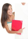 Sinal em branco do estudante Imagem de Stock Royalty Free