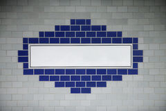 Sinal em branco do metro Imagem de Stock