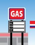 Sinal em branco do posto de gasolina Imagens de Stock
