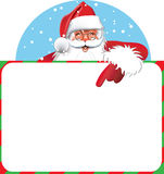 Sinal em branco - Santa Foto de Stock Royalty Free