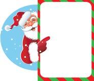 Sinal em branco - Santa Imagem de Stock Royalty Free