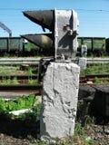 Sinal em uma estação de trem típica Imagens de Stock