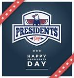 Sinal em uma obscuridade - blackground azul do dia dos presidentes ilustração do vetor