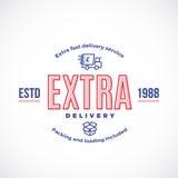 Sinal, emblema ou Logo Template rápido do serviço de entrega ilustração stock