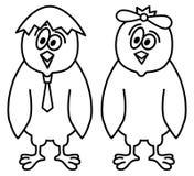 Sinal engraçado das galinhas Imagens de Stock