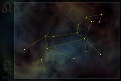 Sinal estilizado do zodíaco Imagens de Stock