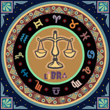 Sinal estilizado do zodíaco Fotografia de Stock