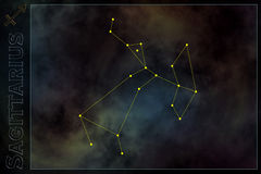 Sinal estilizado do zodíaco Imagem de Stock Royalty Free