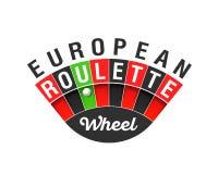 Sinal europeu da roda de roleta ilustração do vetor