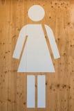 Sinal fêmea do WC, símbolo do toalete Fotografia de Stock Royalty Free