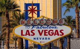 Sinal famoso - boa vinda a Las Vegas - LAS VEGAS - NEVADA fabulosos - 12 de outubro de 2017 Fotos de Stock