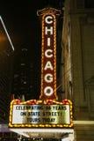 Sinal famoso de Chicago em State Street Foto de Stock