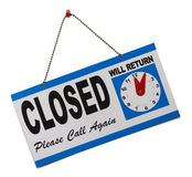 Sinal fechado Imagem de Stock Royalty Free
