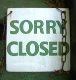 Sinal fechado Fotografia de Stock