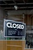 Sinal fechado Foto de Stock