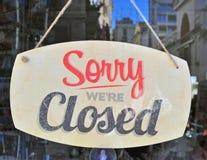 Sinal fechado Fotografia de Stock Royalty Free
