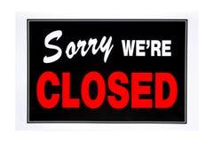 Sinal fechado Imagens de Stock Royalty Free