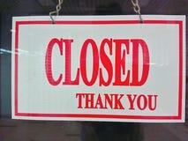 Sinal fechado da loja Imagem de Stock Royalty Free