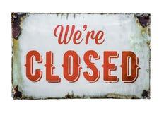 Sinal fechado da loja do vintage Imagem de Stock