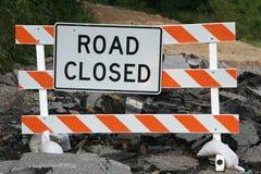 Sinal fechado estrada foto de stock