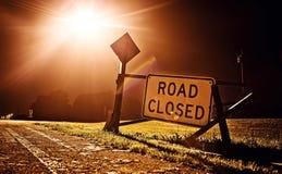 Sinal fechado estrada Imagens de Stock Royalty Free