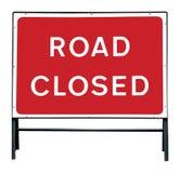 Sinal fechado estrada Imagens de Stock