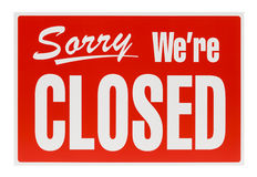 Sinal fechado vermelho Imagens de Stock