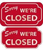 Sinal fechado (vetor) Imagem de Stock Royalty Free
