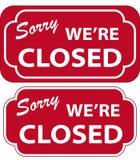Sinal fechado (vetor) Fotografia de Stock