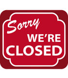 Sinal fechado (vetor) Fotos de Stock Royalty Free