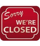 Sinal fechado (vetor) Fotografia de Stock Royalty Free