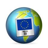 Sinal feito na UE ilustração do vetor