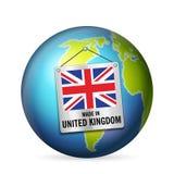 Sinal feito no Reino Unido ilustração do vetor