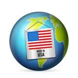 Sinal feito nos EUA ilustração royalty free