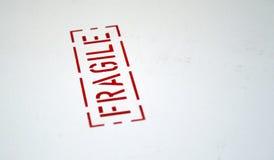 Sinal frágil Foto de Stock
