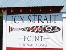 Sinal gelado do ponto do passo de Alaska foto de stock royalty free