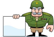 Sinal geral militar dos desenhos animados Foto de Stock