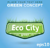 Sinal gramíneo - conceito de Eco Fotografia de Stock Royalty Free