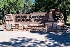 Sinal Grand Canyon NP da entrada Foto de Stock