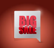 Sinal grande do negócio de uma comunicação da venda Foto de Stock
