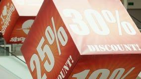 Sinal grande no cubo, 30 por cento da venda vídeos de arquivo