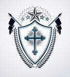 Sinal heráldico, elemento, emblema da heráldica, insígnias, sinal, vetor Fotografia de Stock Royalty Free