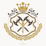 Sinal heráldico, elemento, emblema da heráldica, insígnias, sinal, vetor Foto de Stock Royalty Free