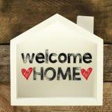 Sinal home bem-vindo Imagem de Stock Royalty Free