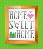 Sinal home doce home Imagem de Stock Royalty Free