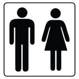 Sinal-homem e fêmea do banheiro ilustração royalty free