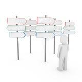 sinal humano da maneira do homem 3d Imagem de Stock